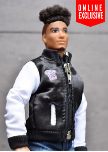 male fashion doll clothes fresh quad varsity school jacket