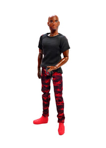 male black doll camo fashion pack clothes