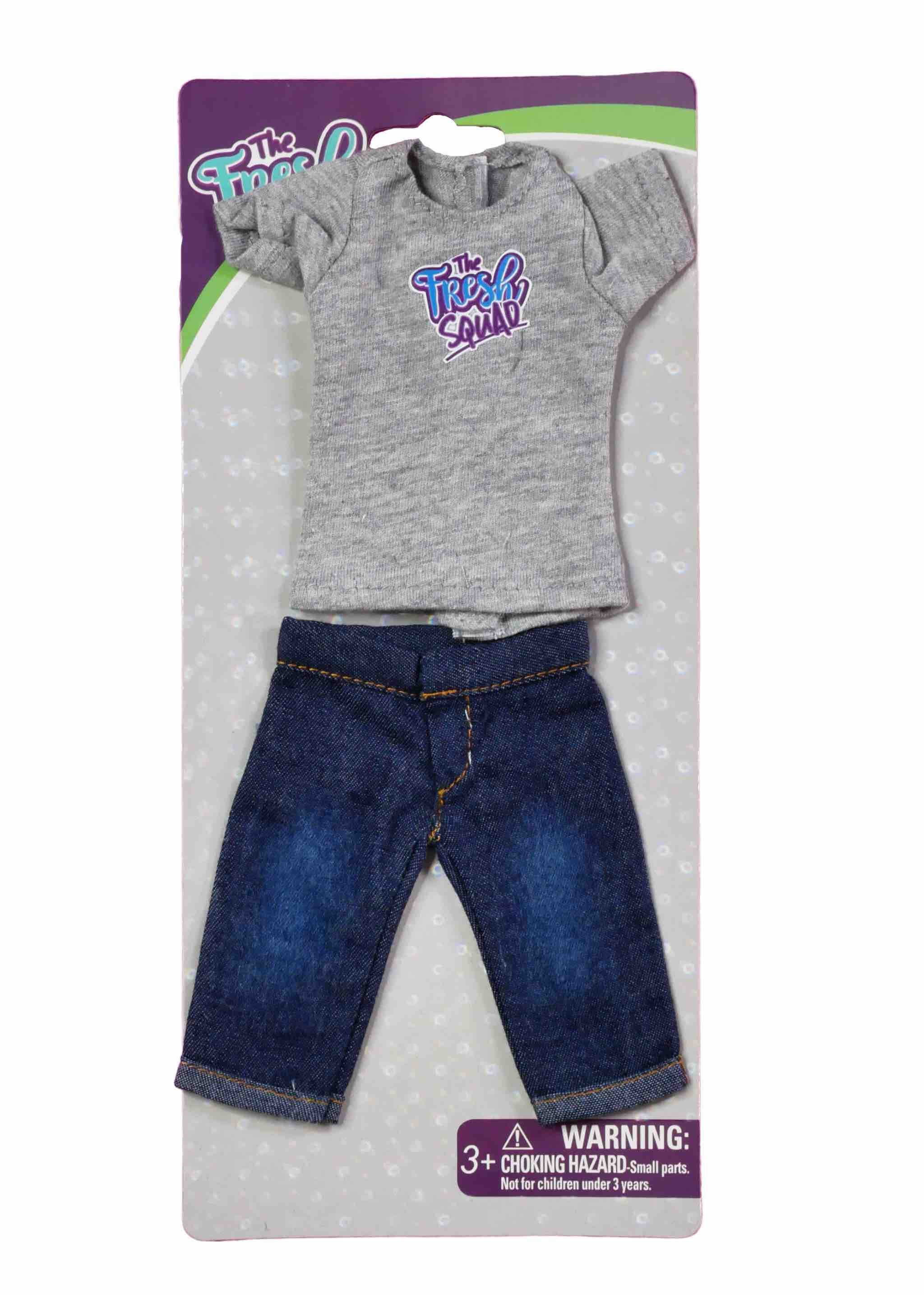 GET SHORTY Shirt & Denim Shorts Doll Fashion Pack