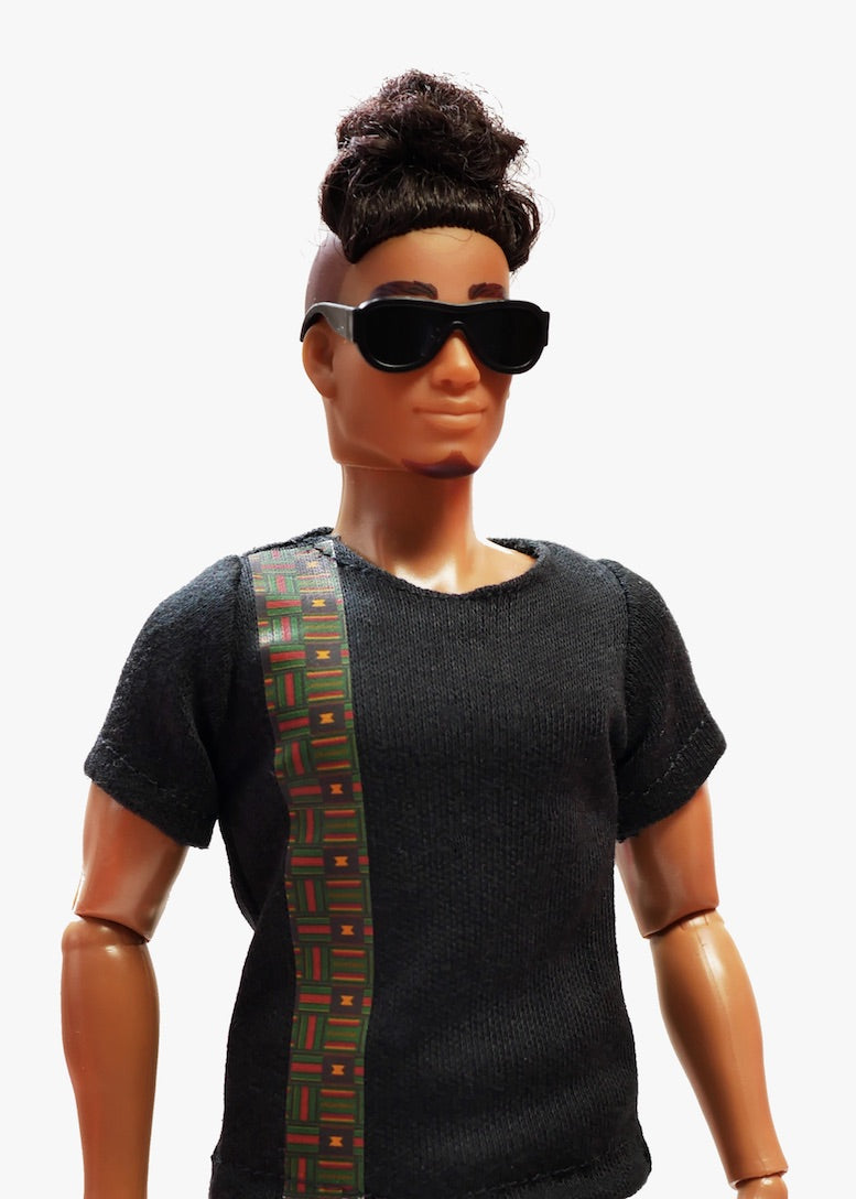 male fashion doll african men top fresh squad
