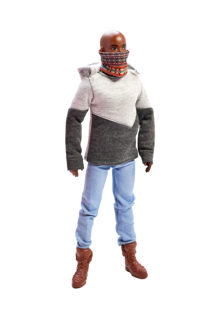 male fashion doll face mask hoodie jeans fresh squad dolls