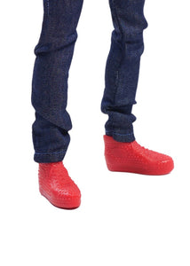 malik fresh squad black male doll red sneakers