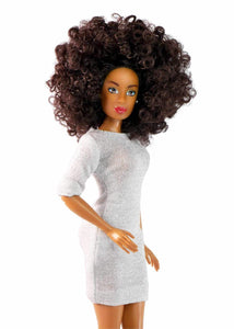 curly hair doll black fashion doll african doll the fresh dolls