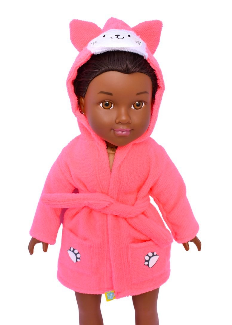 doll robe animal fleece bathtime baby doll
