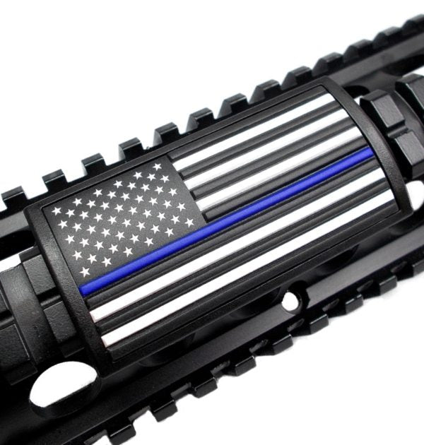 Custom Gun Rails – Blue Line Flag – Stars Left