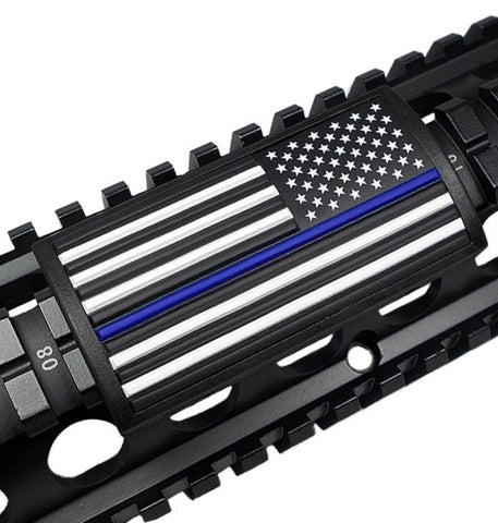 Custom Gun Rails – Blue Line Flag – Stars Right