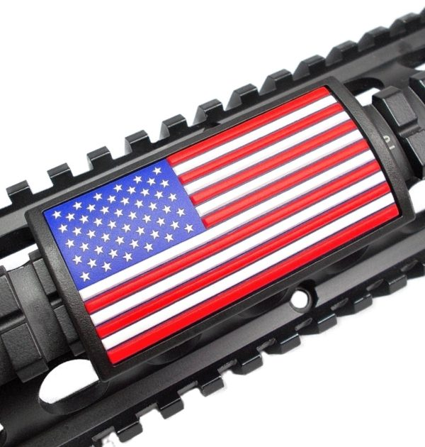 Custom Gun Rails – Red / White / Blue Flag – Stars Left