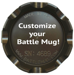 Battle Mug Engraved Text