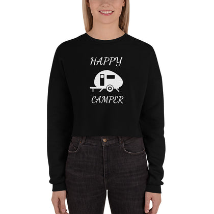 Happy Camper Crop Sweatshirt