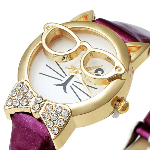 Professor Mittens Cat Watch with Bow Tie