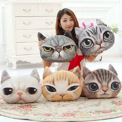 Plush Cat Cushion Collection