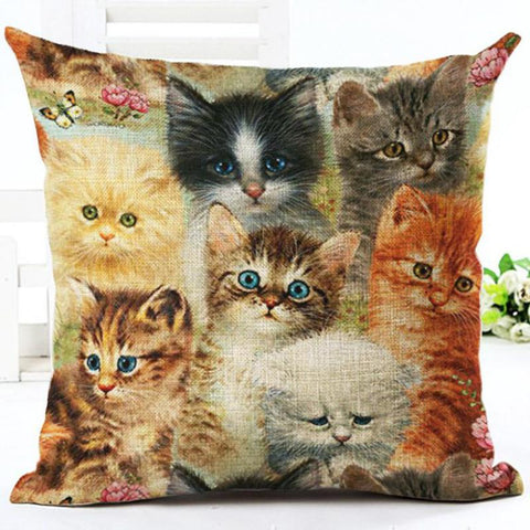 Modern Cat Pillow Case Collection