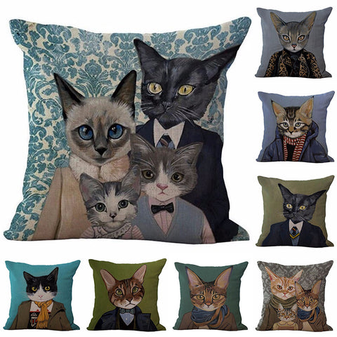 Meow Cat Family Pillow Cases