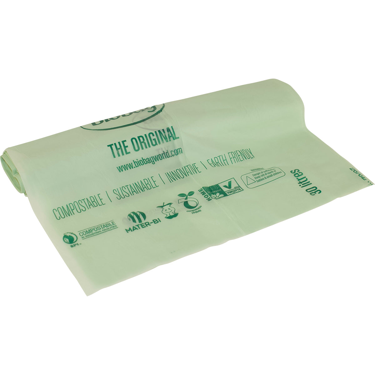Biodegradable Eco Bin Liner 30L 25pk