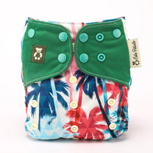 Load image into Gallery viewer, Tropical Lush - Cutie Patootie FlexiNappy Premium Best Cloth Diapers