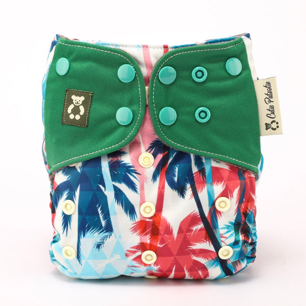 Tropical Lush - Cutie Patootie FlexiNappy Premium Best Cloth Diapers