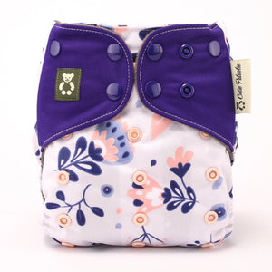 Floral Art - Cutie Patootie FlexiNappy Premium Best Cloth Diapers