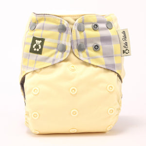 Signature Plaid Canary - Cutie Patootie FlexiNappy Premium Best Cloth Diapers