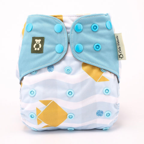 Under The Sea - Cutie Patootie FlexiNappy Premium Best Cloth Diapers