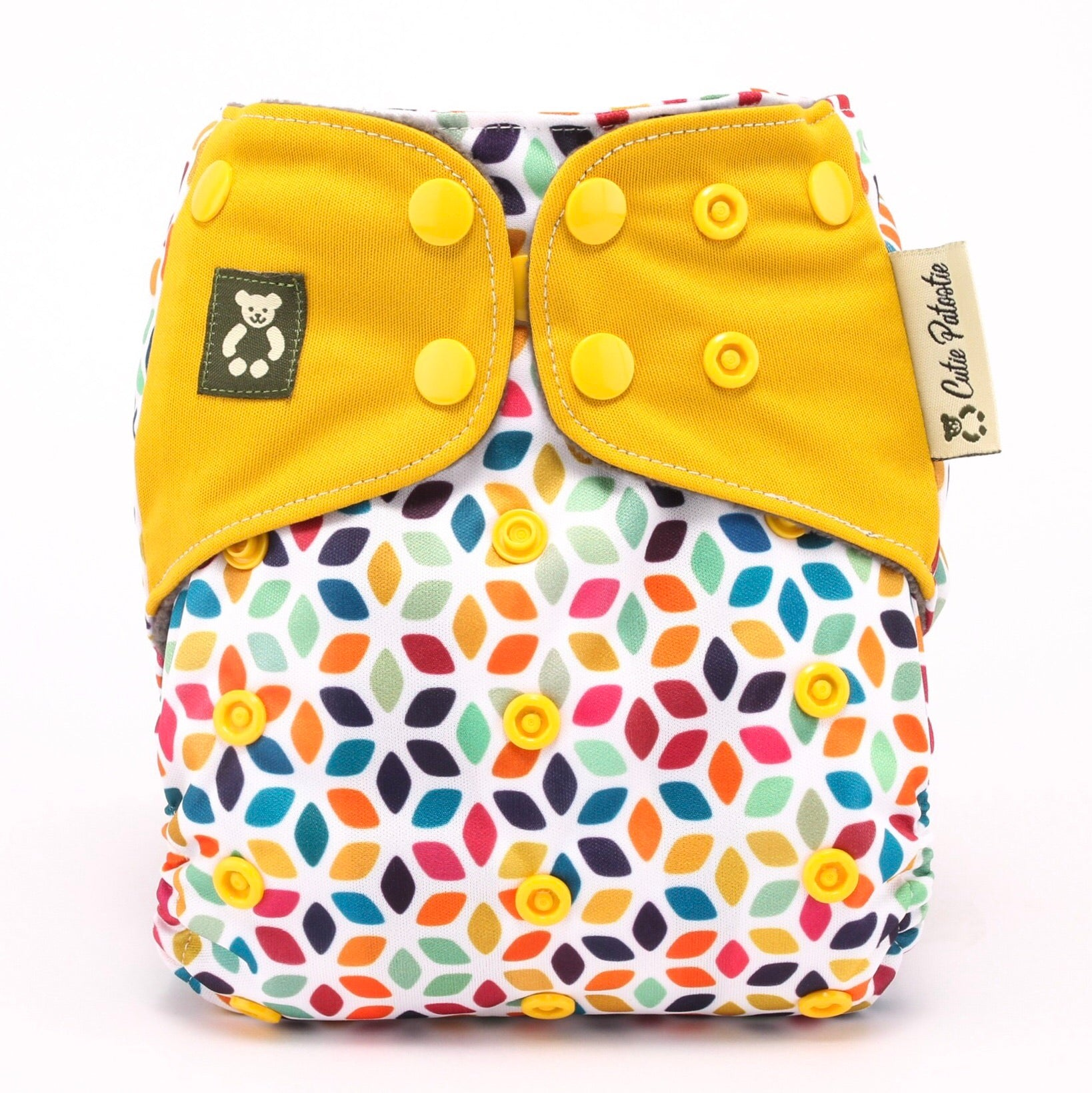 Psychedelic Blooms - Cutie Patootie FlexiNappy Premium Best Cloth Diapers