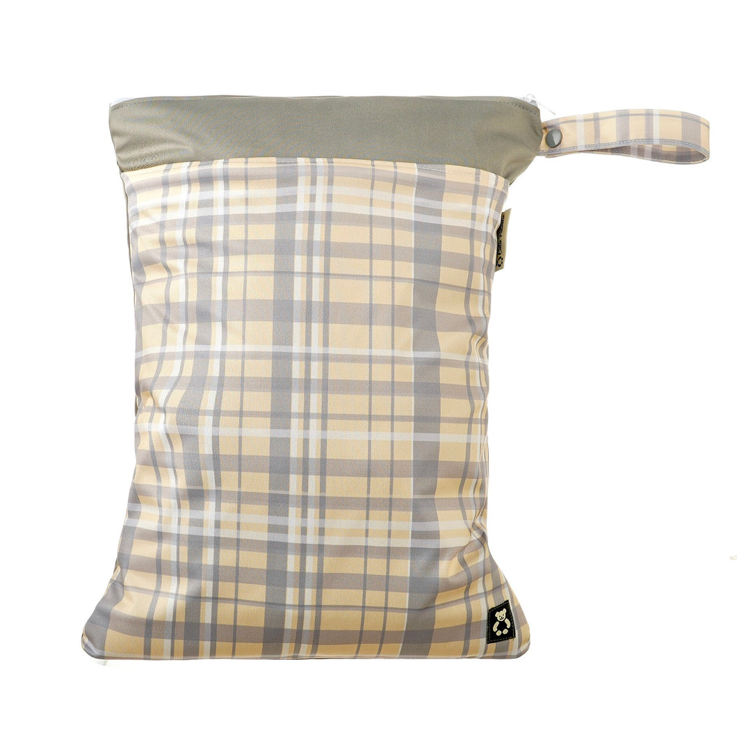 Canary Plaid Wet Bag