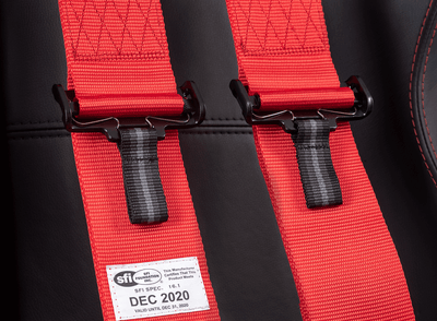 SFI 16.1 - 5PT RACING HARNESS - RED