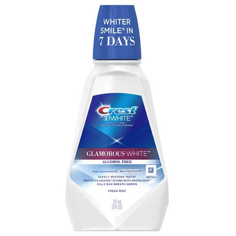 Crest 3D White Glamorous White Mouthwash 237 mL - Mr Bundle