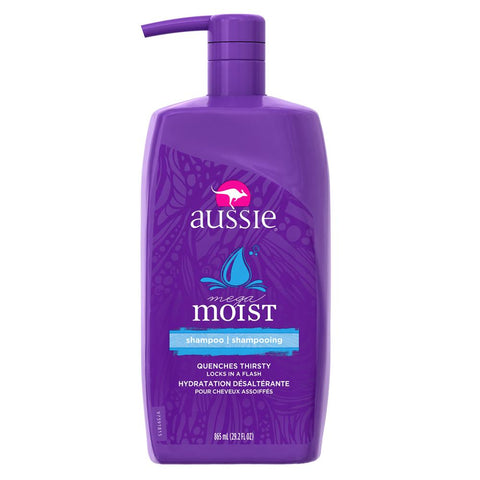 Aussie Mega Moist Shampoo 29.2 fl oz with Pump - Mr Bundle