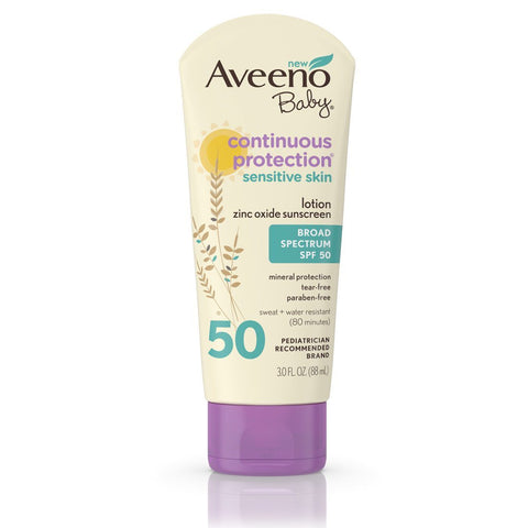 Aveeno Baby Continuous Protection Sunscreen Lotion SPF 50 - Mr Bundle