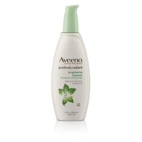 Aveeno Positively Radiant Brightening Face Cleanser 6.7 fl oz - Mr Bundle