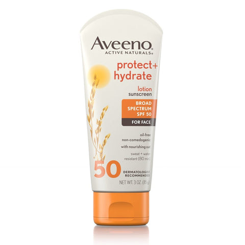 Aveeno Protect + Hydrate Face Sunscreen Lotion SPF 50 - Mr Bundle