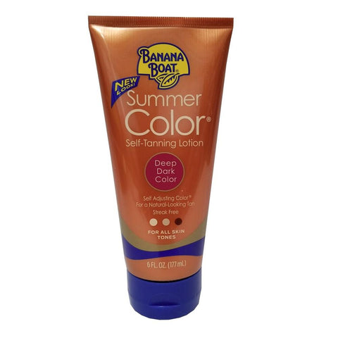 Banana Boat Summer Color Self Tanning Lotion Deep Dark Color 6 oz - Mr Bundle