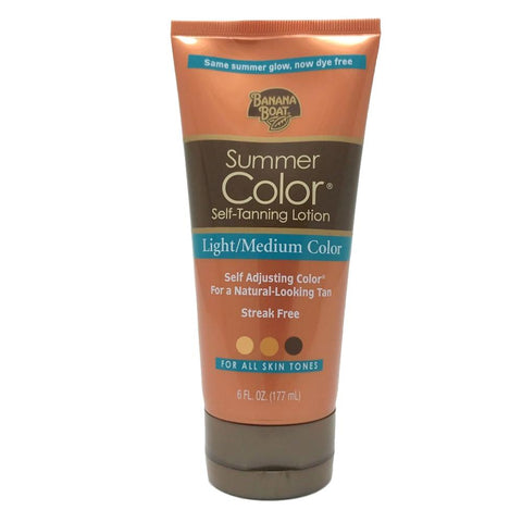 Banana Boat Summer Color Self Tanning Lotion Light/Medium Color 6 oz - Mr Bundle