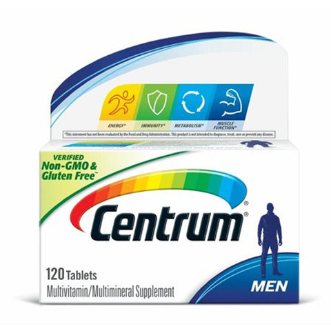 Centrum Men Multivitamin Tablets 120 ct - Mr Bundle