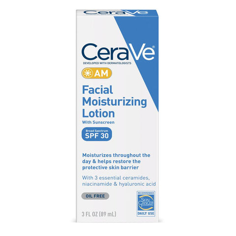 CeraVe AM Facial Moisturizing Lotion With SPF 30 3 fl oz - Mr Bundle