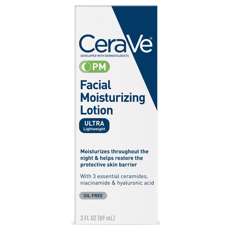 CeraVe PM Facial Moisturizing Lotion 3 fl oz - Mr Bundle