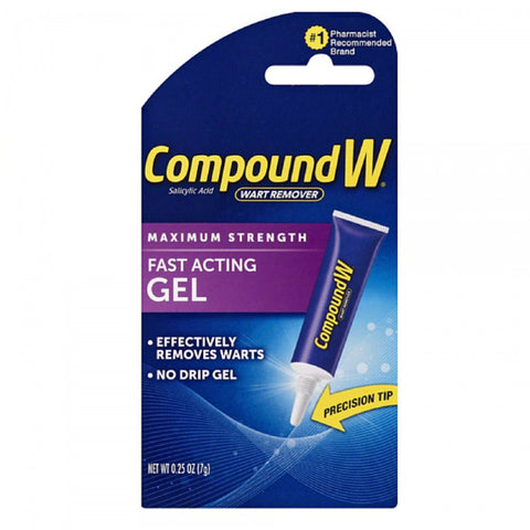 Compound W Wart Remover Fast Acting Gel 0.25 oz - Mr Bundle