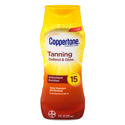 Coppertone Tanning Defend & Glow Sunscreen Lotion SPF 15 - Mr Bundle