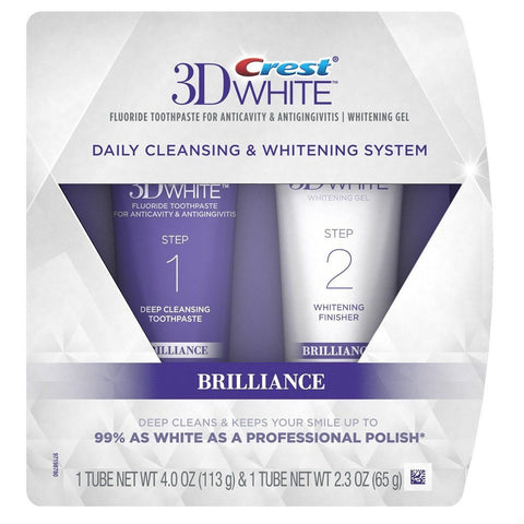 Crest 3D White Brilliance Daily Cleansing & Whitening System - Mr Bundle