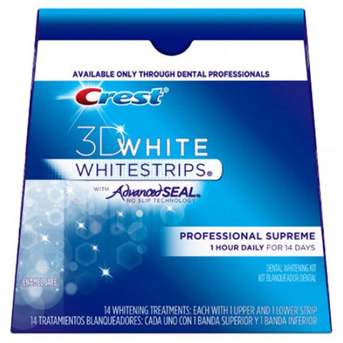 Crest 3D White Strips Advanced Seal Professional Supreme - Mr Bundle