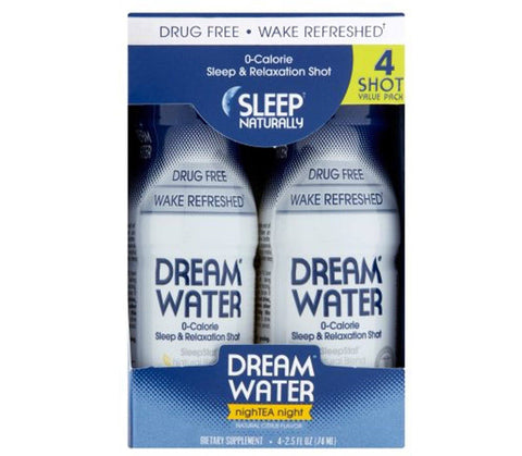 Dream Water Sleep & Relaxation Shot 4 Pack - NighTEA Night - Mr Bundle