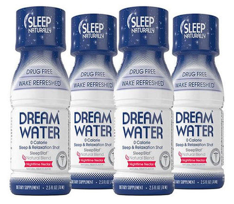 Dream Water Sleep & Relaxation Shot 4 Pack - Nighttime Nectar - Mr Bundle
