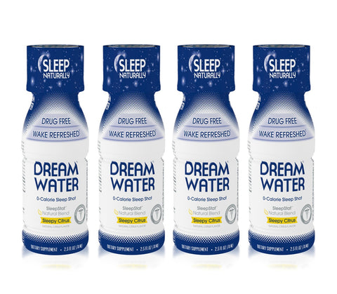 Dream Water Sleep & Relaxation Shot 4 Pack - Sleepy Citrus - Mr Bundle