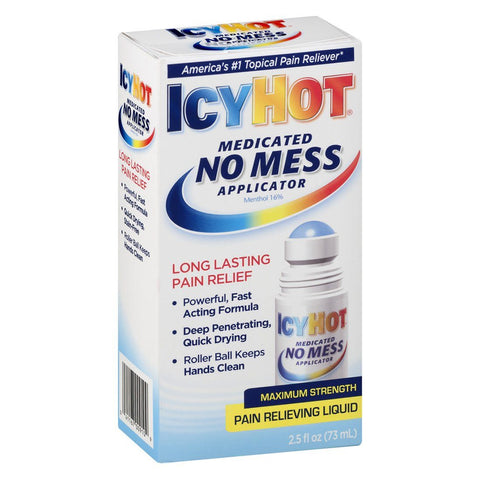 Icy Hot No Mess Applicator Liquid 2.5 oz - Mr Bundle