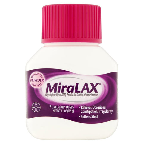 MiraLAX Powder Laxative Constipation Drink 4.1 oz - Mr Bundle