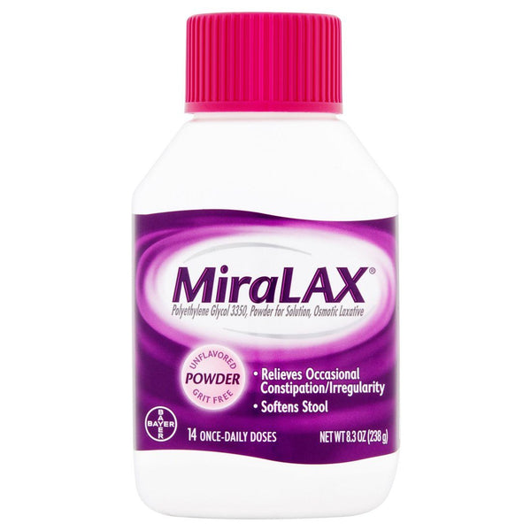 MiraLAX Powder Laxative Constipation Drink 8.3 oz - Mr Bundle