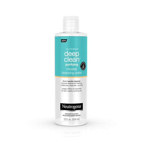 Neutrogena Deep Clean Micellar Water and Makeup Remover 12 oz - Mr Bundle