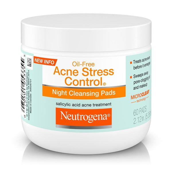 Neutrogena Oil-Free Acne Stress Control Night Cleansing Pads - Mr Bundle