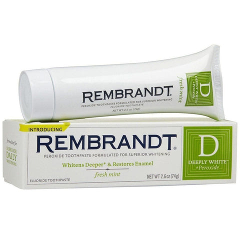 Rembrandt Deeply White Toothpaste Fresh Mint 2.60 oz - Mr Bundle
