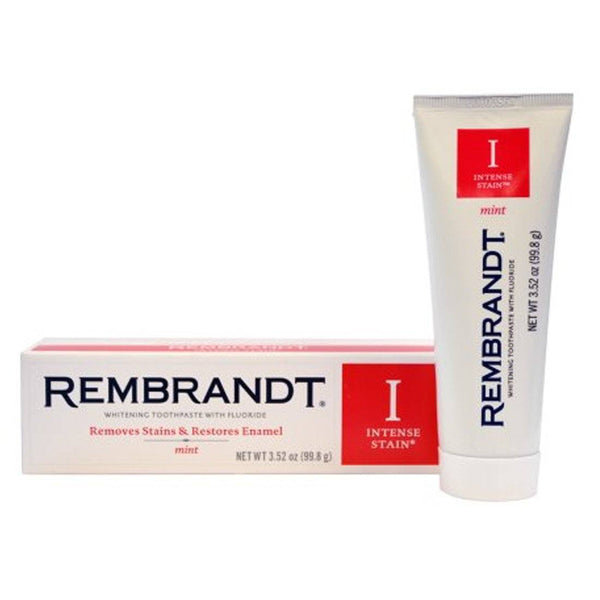 Rembrandt Intense Stain Toothpaste Mint 3.52 oz - Mr Bundle